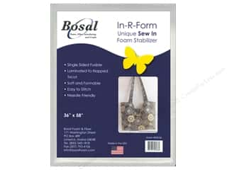 Sew-In Interfacing / Sew-In Stabilizer: Bosal In-R-Form Fusible Foam Stabilizer 36 x 58 in. White
