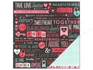 Pebbles Yours Truly Paper 12x12 Love You (25 piece)