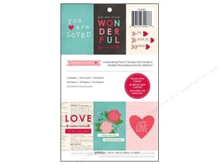 "Love & Romance Hot: Pebbles Paper Pad Yours Truly Cardmaking 5.5""x 8.5"" 36pc"
