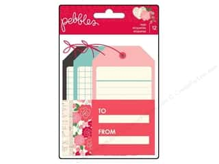 Valentine's Day Flowers: Pebbles Embellishment Yours Truly Tags 12pc
