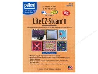 Fusible Web $4 - $5: Pellon EZ-Steam II Lite Fusible Web 12 x 9 in. 5 pc.