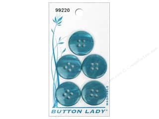 button: JHB Button Lady Buttons 3/4 in. Blue #99220 5 pc.