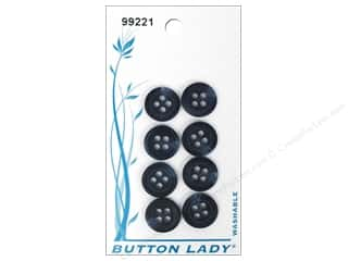 JHB Button Lady Buttons 1/2 in. Navy #99221 8 pc.