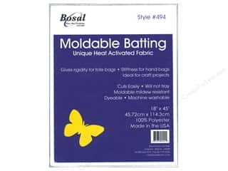Polyester batting: Bosal Heat Moldable Batting 18 x 45  in.