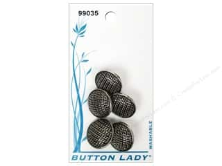 JHB Button Lady Buttons 5/8 in. Antique Silver 5 pc.