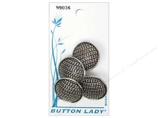 button: JHB Button Lady Buttons 7/8 in. Antique Silver 3 pc.