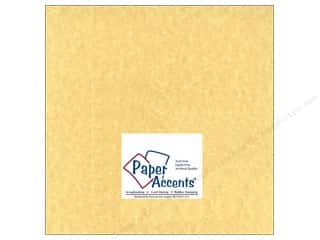 Cards Cream/Natural: Cardstock 12 x 12 in. #211 Parchment Ancient Gold by Paper Accents (25 sheets)