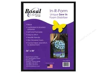 Sew-In Interfacing / Sew-In Stabilizer: Bosal In-R-Form Sew In Foam Stabilizer 36 x 58 in. Black