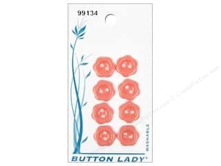 Hearts Buttons: JHB Button Lady Buttons 1/2 in. Pink #99134 8 pc.