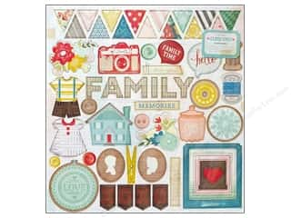 Crate Paper Dimensional Stickers: Crate Paper Stickers Close Knit Chipboard Accent