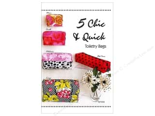Patterns $6 - $8: Tiger Lily Press 5 Chic & Quick Toiletry Bags Pattern
