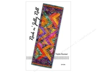 Quilt Woman.com Fat Quarter / Jelly Roll / Charm / Cake Patterns: Tiger Lily Press Rock N Jelly Roll Table Runner Pattern