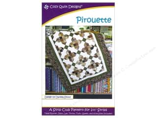 Fat Quarter / Jelly Roll / Charm / Cake Patterns: Cozy Quilt Designs Pirouette Pattern