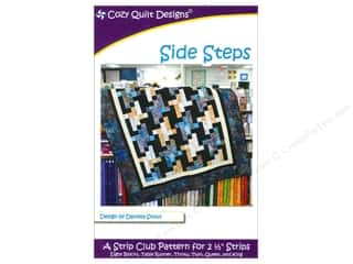 Bosal Fat Quarter / Jelly Roll / Charm / Cake Patterns: Cozy Quilt Designs Side Steps Pattern