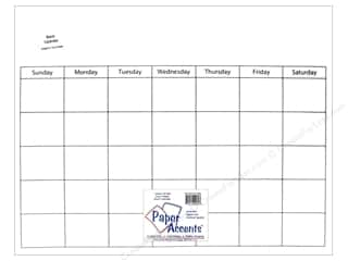 Calendars: Paper Accents Plastic Calendar Page 16 x 20 in. Clear 1 pc.
