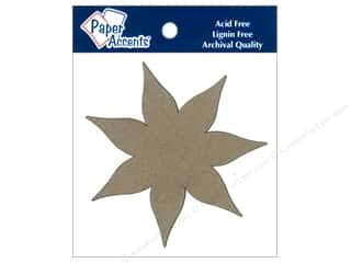 Chipboard Shapes  Flowers: Paper Accents Chipboard Shape Poinsettia 8 pc. Kraft