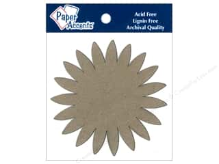 Paper Accents Chipboard Shape Sunflower 8 pc. Kraft