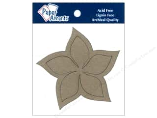 Paper Accents Chipboard Shape Plumeria 8 pc. Kraft