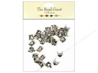 The Bead Giant Nailhead Pyramid 1/4 in. Silver 30 pc.