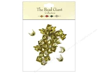 The Bead Giant Nailhead Pyramid 1/4 in. Gold 30 pc.