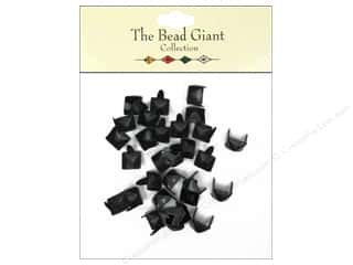 The Bead Giant Nailhead Pyramid 1/4 in. Black 30 pc.
