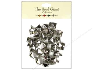 The Bead Giant Nailhead Pyramid 3/8 in. Silver 26 pc.