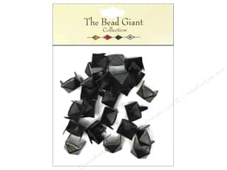 The Bead Giant Nailhead Pyramid 3/8 in. Black 26 pc.
