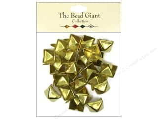 The Bead Giant Nailhead Pyramid 1/2 in. Gold 22 pc.
