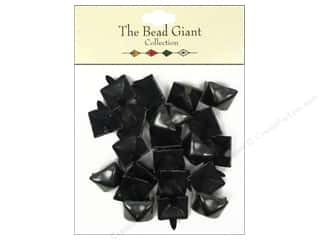The Bead Giant Nailhead Pyramid 1/2 in. Black 22 pc.