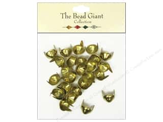 Clearance Blumenthal Favorite Findings: The Bead Giant Nailhead Cone 3/8 in. Gold 28 pc.