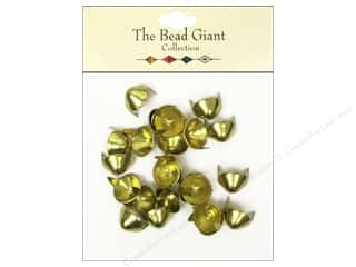 The Bead Giant Nailhead Cone 7/16 in. Gold 24 pc.