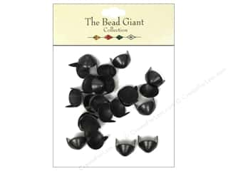 The Bead Giant Nailhead Cone 7/16 in. Black 24 pc.