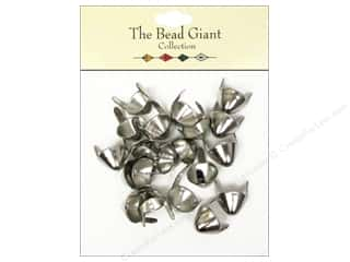 The Bead Giant Nailhead Spike Medium Silver 20 pc.