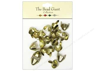 The Bead Giant Nailhead Spike Medium Gold 20 pc.