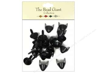 The Bead Giant Nailhead Spike Medium Black 20 pc.