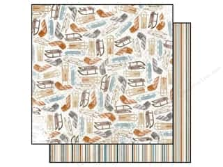 Outdoors Bo Bunny 12 x 12 in. Paper: Bo Bunny 12 x 12 in. Paper Woodland Winter Collection Toboggan (25 sheets)