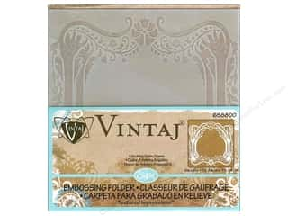 "Embossing Aids 6"": Sizzix Embossing Folders Vintaj Textured Impressions Arching Trees Frame"