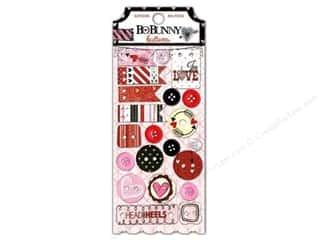 Bo Bunny $15 - $20: Bo Bunny Buttons 21 pc. Head Over Heels