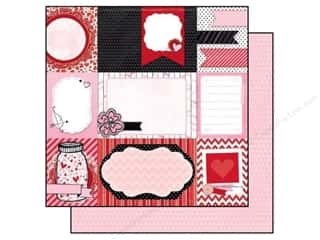 Bo Bunny Paper 12x12 Head Over Heels Date Night (25 piece)