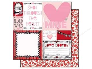 Bo Bunny Paper 12x12 Head Over Heels First Kiss (25 piece)