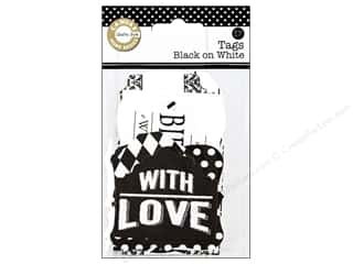 Gifts Black: Canvas Corp Printed Tags Black On White