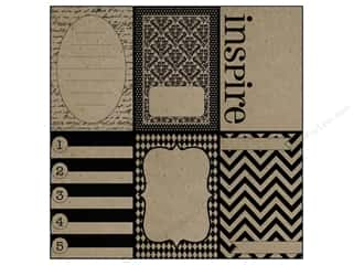 Zig Clearance Patterns: Canvas Corp 12 x 12 in. Paper Little Black Pages On Kraft (15 pieces)