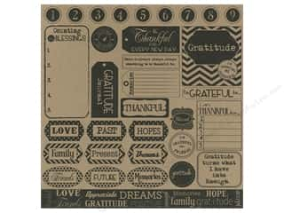 Canvas Corp Paper 12x12 Gratitude Sampler On Kraft (15 piece)