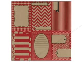 Zig Clearance Patterns: Canvas Corp 12 x 12 in. Paper Little Red Pages On Kraft (15 pieces)