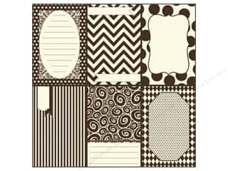 Zig Clearance Patterns: Canvas Corp 12 x 12 in. Paper Little Chocolate Pages On Ivory (15 pieces)