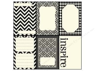 Zig Clearance Patterns: Canvas Corp 12 x 12 in. Paper Little Black Pages On Ivory (15 pieces)