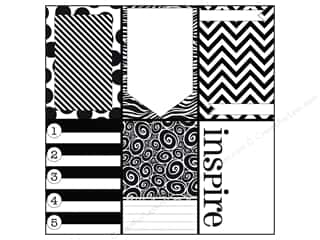 Zig Clearance Patterns: Canvas Corp 12 x 12 in. Paper Little Black Pages On White (15 pieces)