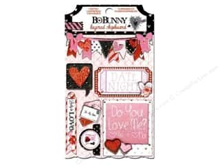 Love & Romance Chipboard: Bo Bunny Chipboard Stickers Layered Head Over Heels