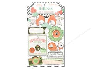 Bo Bunny Dimensional Stickers: Bo Bunny Chipboard Stickers Layered Pincushion