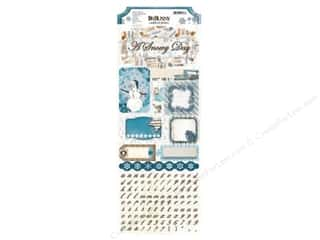 Caption Stickers / Frame Stickers: Bo Bunny Cardstock Stickers Woodland Winter